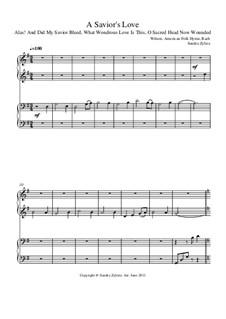 A Savior's Love: para piano de quadro mãos by Johann Sebastian Bach, folklore, Hugh Wilson