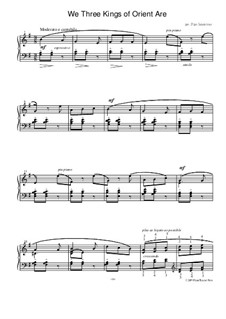 We Three Kings of Orient Are: Para Piano by folklore
