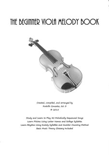 The Beginner Viola Melody Book: The Beginner Viola Melody Book by folklore