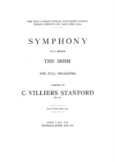 Symphony No.3 in F Minor 'Irish', Op.28: movimento I by Charles Villiers Stanford