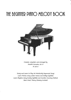 The Beginner Piano Melody Book: The Beginner Piano Melody Book by folklore