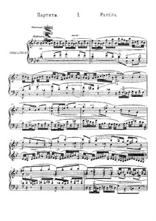 Partita for Keyboard No.1 in B Flat Major, BWV 825: For a single performer by Johann Sebastian Bach