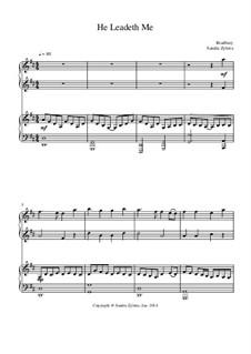 He Leadeth Me: para piano de quadro mãos by William Batchelder Bradbury