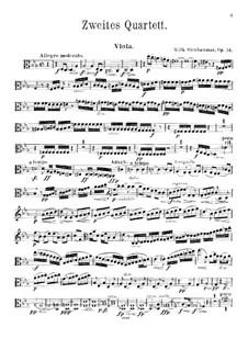 String Quartet No.2 in C Minor, Op.14: parte viola by Wilhelm Stenhammar