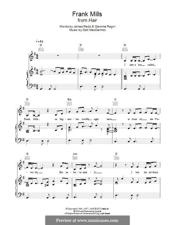 Frank Mills: Para Piano by Galt MacDermot