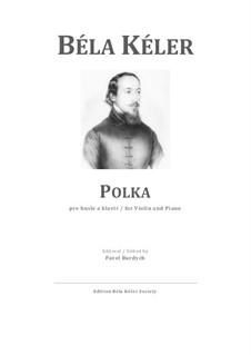 Polka: Partitura para dos artistas, parte solo by Béla Kéler