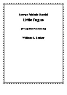 Seven Little Fugues for Organ (or Harpsichord): Fugue No.4 by Georg Friedrich Händel