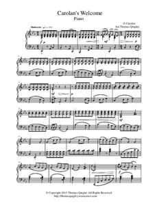 O'Carolan's Welcome: Para Piano by Turlough O'Carolan