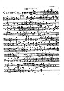 Six Concertos, Op.2: Cello and basso continuo parts by Charles Avison