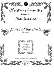 Carol of the Birds: Para Piano by folklore