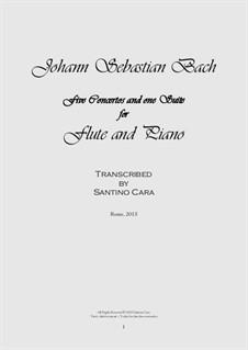 Five Concertos and One Suite, Book 2: para flauta e piano by Johann Sebastian Bach