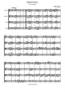 Bridal Chorus: partes - para quarteto de cordas by Richard Wagner