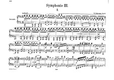 Symphony No.3 in E Flat Major 'Rhenish', Op.97: versão para piano de quatro mãos by Robert Schumann
