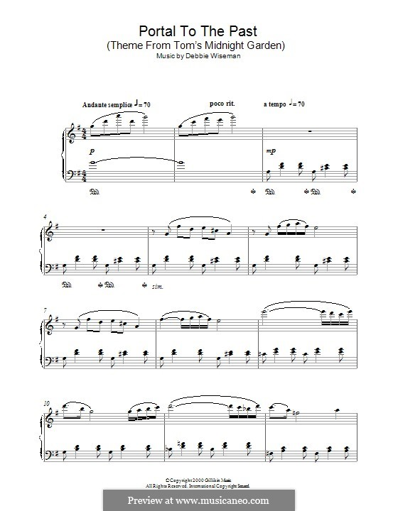 Portal to the Past (Theme from Tom's Midnight Garden): Para Piano by Debbie Wiseman