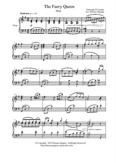 The Faery Queen: For concert harp by Turlough O'Carolan