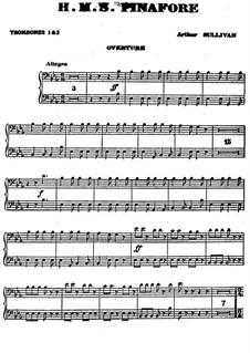 Complete Opera: parte Trombones by Arthur Seymour Sullivan