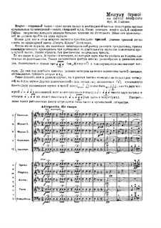 Symphony No.93 in D Major, Hob.I/93: Minuet (Trio). Version for russian folk orchestra                                                         by Joseph Haydn