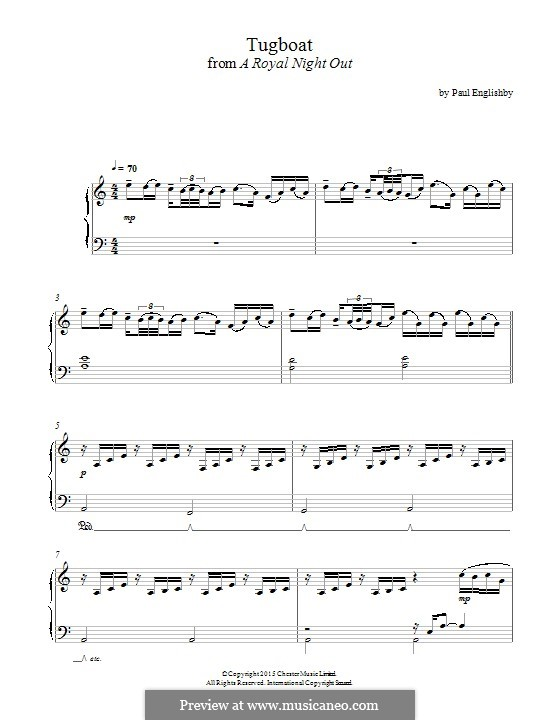Tugboat (from 'A Royal Night Out'): Para Piano by Paul Englishby