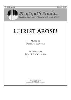 Christ Arose (Low in the Grave He Lay): Para Piano by Robert Lowry