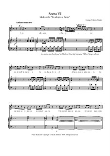 Teseo, HWV 9: Ira, sdegno, e furore (Medea's recitative and aria), for piano reduction by Georg Friedrich Händel