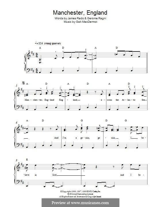 Manchester England: Para Piano by Galt MacDermot