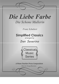 No.16 Die liebe Farbe (The Beloved Colour): Para Piano by Franz Schubert