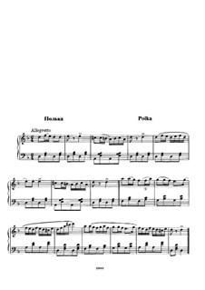 Polka in D Minor: Para Piano by Mikhail Glinka