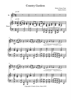 Country Gardens: Score for two performers (in B Flat) by folklore