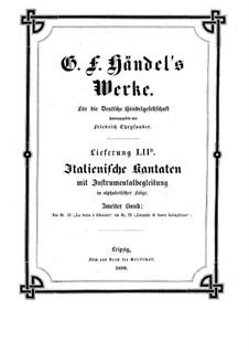 Italian Cantatas with Instrumental Accompaniment: Volume II by Georg Friedrich Händel