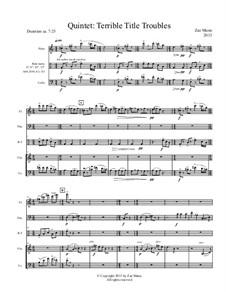 Quintet: Terrible Title Troubles: Quintet: Terrible Title Troubles by Zae Munn