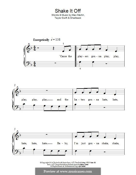 Shake it Off: Para Piano by Shellback, Max Martin, Taylor Swift