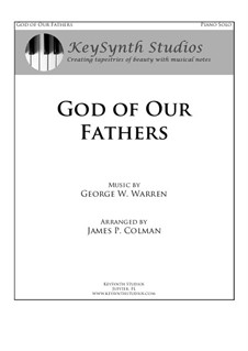 God of Our Fathers: Para Piano by George William Warren