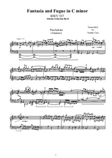Fantasia and Fugue No.7 in C Minor, BWV 537: Para Piano by Johann Sebastian Bach