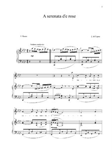 A serenata d'e rose: For voice and piano (f minor) by Eduardo di Capua