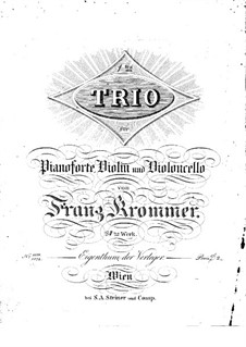 Piano Trio in E Flat Major, Op.84: trio de piano em E flat maior by Franz Krommer