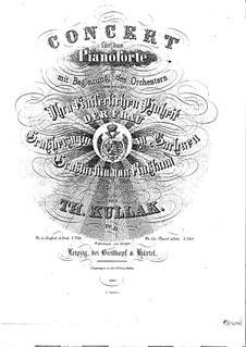 Piano Concerto in C Minor, Op. 55: Piano Concerto in C Minor by Theodor Kullak