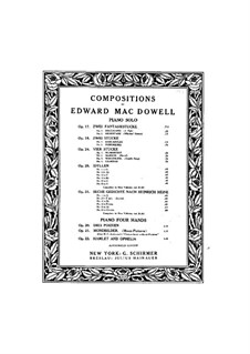 Four Pieces, Op.24: set completo by Edward MacDowell