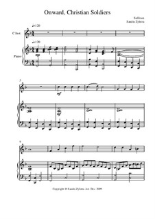 Onward, Christian Soldiers: Score for two performers (in C) by Arthur Seymour Sullivan