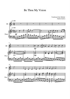 Be Thou My Vision: partitura para dois musicos by folklore