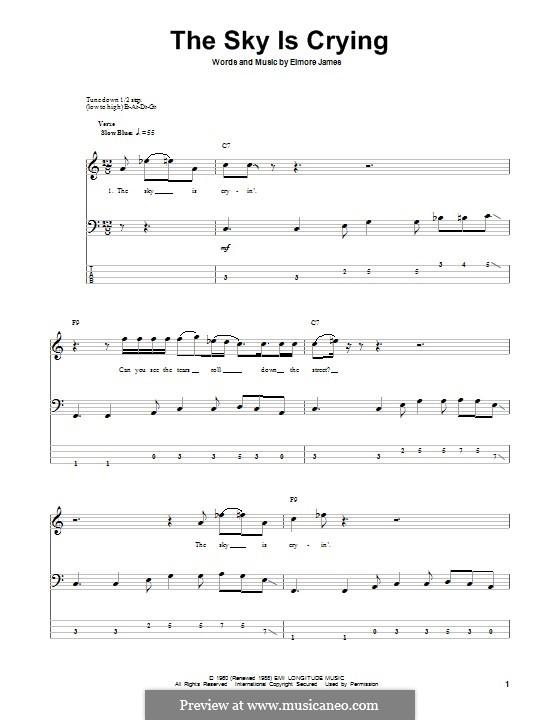 The Sky Is Crying: para baixo com guia by Elmore James