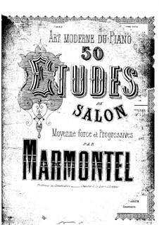 Cinquante études de salon, Op.108: Cinquante études de salon by Antoine François Marmontel