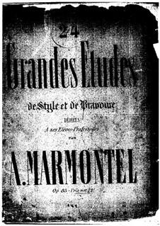 Vingt-quatre grandes études de style et de bravoure, Op.85: Vingt-quatre grandes études de style et de bravoure by Antoine François Marmontel