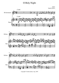 Instrumental version: Score for two performers (in E Flat) by Adolphe Adam