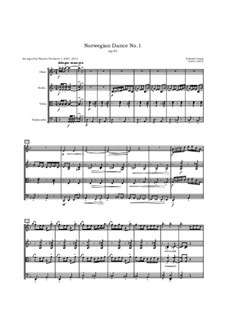 Four Norwegian Dances, Op.35: Arrangement for oboe, violin, viola and cello by Edvard Grieg