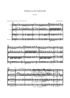 Complete Opera: Ouverture, for oboe, violin, viola and cello by Jacques Offenbach