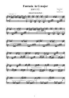 Fantasia in G Major, BWV 572: Para Piano by Johann Sebastian Bach