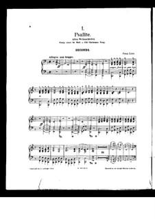 Christmas Tree, S.185a: para piano de quadro mãos by Franz Liszt