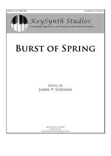 Burst of Spring: Burst of Spring by James Colman