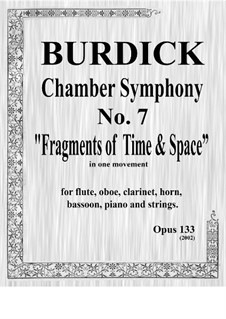 Chamber Symphony No.7 'Fragments of Time & Space', Op.133: partitura by Richard Burdick