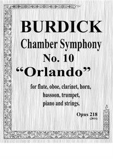 Chamber Symphony No.10 'Orlando' in C#, Op.218: partitura by Richard Burdick